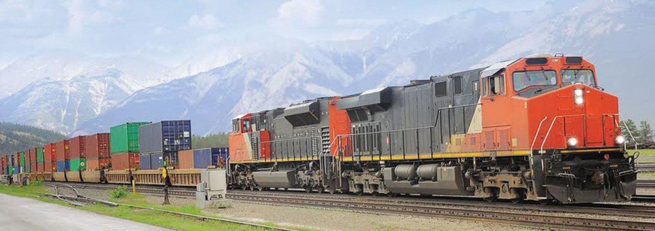 intermodal shipping train